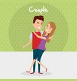 lovers couple avatars characters vector image