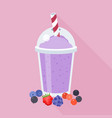 mixed berry smoothie vector image vector image
