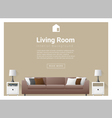 Modern living room Interior background 3 vector image vector image