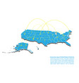 modern of usa map connections network design best vector image