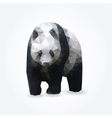 Modern polygon of giant panda vector image