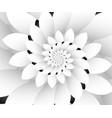 monochrome floral design background wallpaper vector image vector image