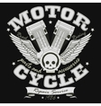 Motorcycle Racing Typography Graphics - vector image vector image
