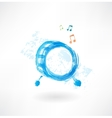 music drum grunge icon vector image