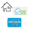 online shopping cart shopfrom home symbol vector image