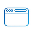 opened website display bar navigation button vector image