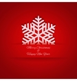 Paper Christmas snowflake in pocket vector image