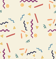 Party seamless pattern with streamers and confetti vector image vector image