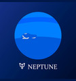 planet neptune in flat style vector image vector image