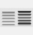 realistic black and white wall shelf collection vector image vector image