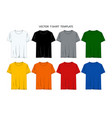 set templates t-shirts vector image