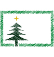 shaded christmas card vector image vector image