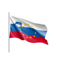 slovenia national flag with a star circle of eu vector image vector image