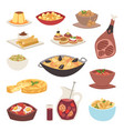 spain cuisine food cookery traditional dish vector image