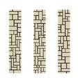 stone columns or a piece a brick wall vector image