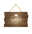 Summer Time Wooden Board vector image vector image