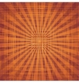 Sun with rays on grunge cloth texture vector image vector image