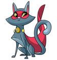 super cat sitting vector image