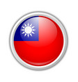 taiwanese flag badge in circular frame isolated vector image vector image