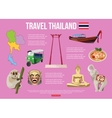 Thailand travel background with place for text vector image vector image