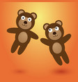 two nice leaping bears vector image