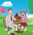 Valentine couple vector image vector image