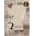 Vertical coffee background vector image vector image