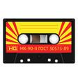 vintage technology audio cassette vector image vector image