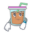 waiting bubble tea mascot cartoon vector image vector image