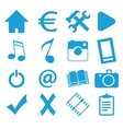 Webdesign blue icons set vector image vector image