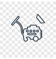 wiping vacuum tool concept linear icon isolated vector image
