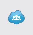Blue cloud team icon vector image