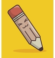 pencil funny character isolated icon design vector image