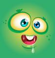 cartoon funny monster face avatar vector image