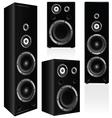 speaker in black color vector image