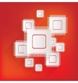 Microchip web icon vector image
