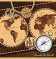 Vintage Nautical Map Compass Background vector image