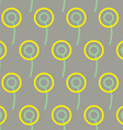 Dandelions seamless pattern Background of stylized vector image