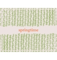 spring background with plant vector image