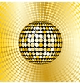 abstract gold disco ball vector image