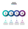 abstract gradientdiagram with 4 steps vector image vector image