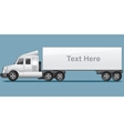 Abstract Modern Long Cargo Truck vector image vector image