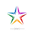 Abstract rainbow star design element on white vector image vector image