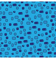 abstract rounded rectangle blue seamless pattern vector image