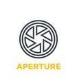 aperture line icon vector image vector image