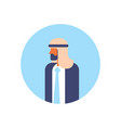 arabic man beard profile avatar icon arab vector image vector image