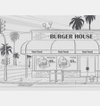 background burger house vector image vector image