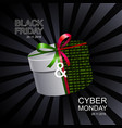 black friday and cyber monday sale banner vector image