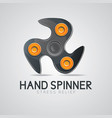 black hand spinner fidget toy vector image