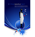 blue abstract background with girl image vector image vector image